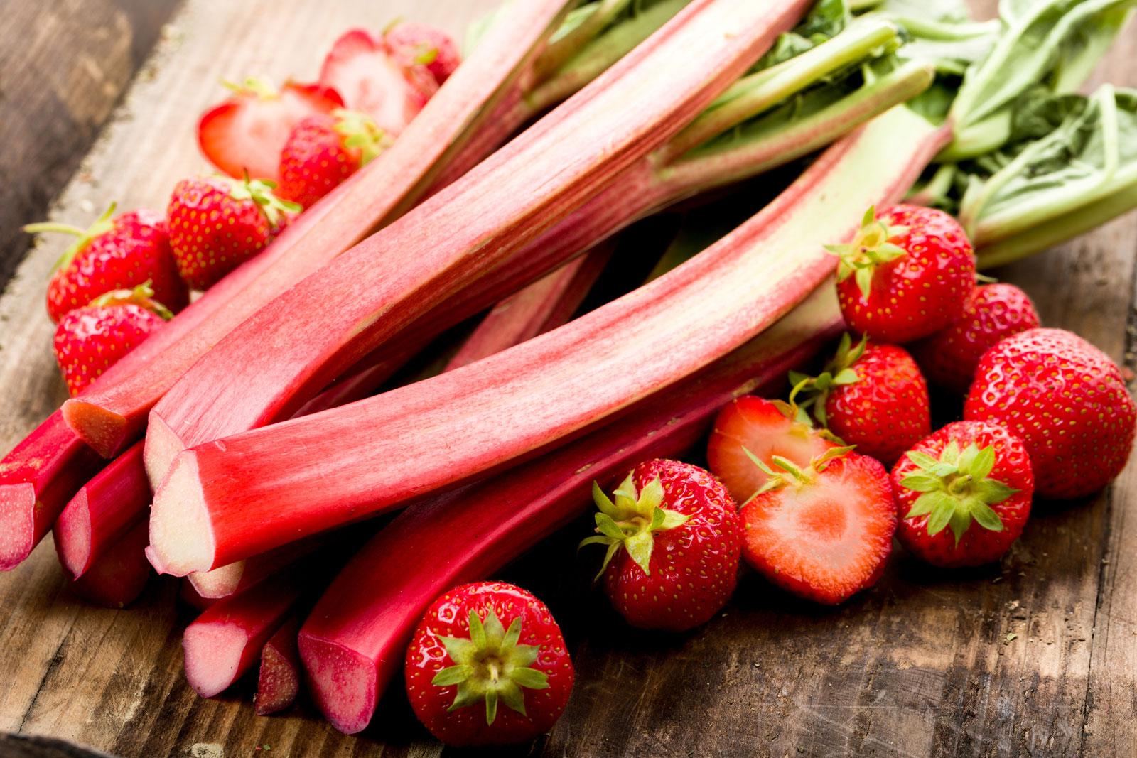 Vitaminreiches Fruehlingsgemuese Rhabarber