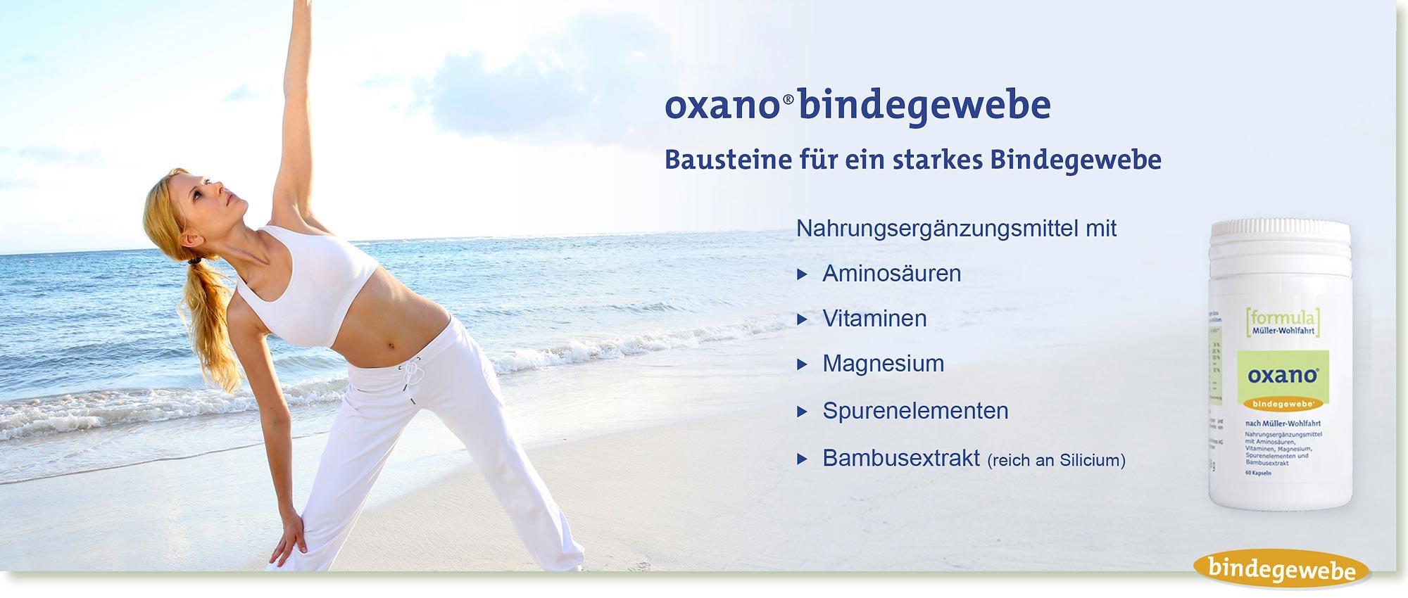 HeadImage | OXANO-Bindegewebe Kapseln nach Müller-Wohlfahrt mit Aminosäuren, Vitaminen, Magnesium, Bamubsextrakt