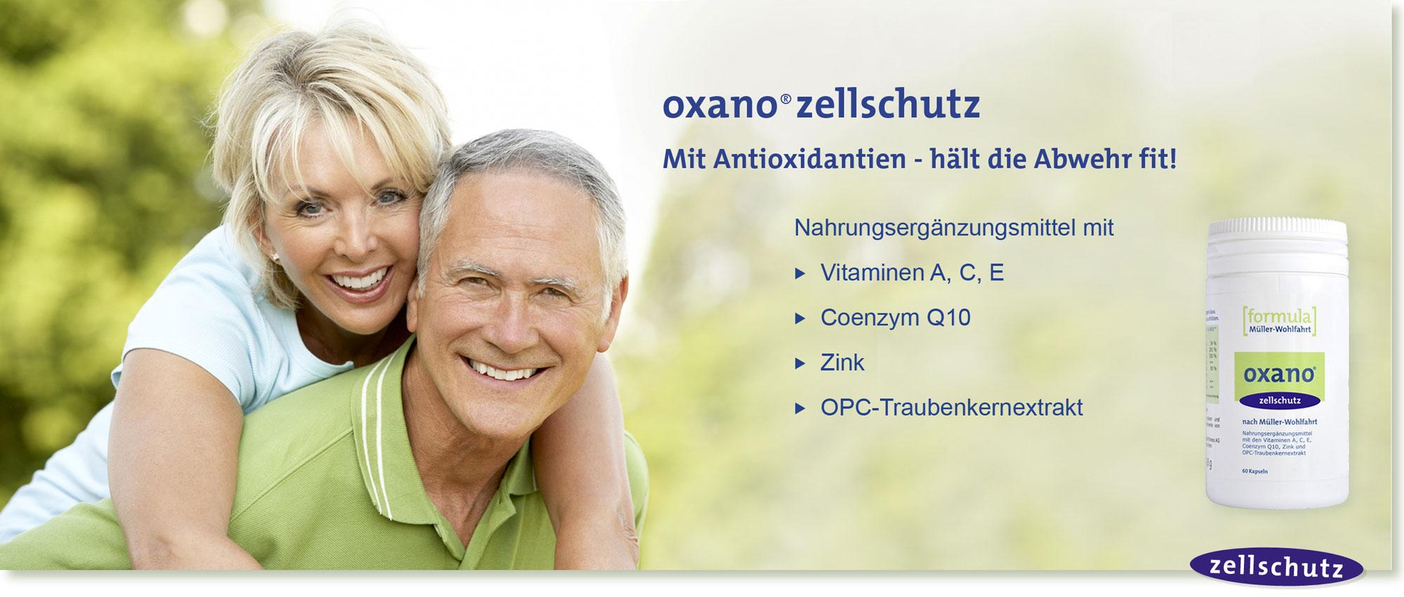 HeadImage | OXANO-Zellschutz Antioxidantien-Kapseln nach Müller-Wohlfahrt mit Vitaminen, Zink, OPC-Traubenkernextrakt, Coenzym Q10