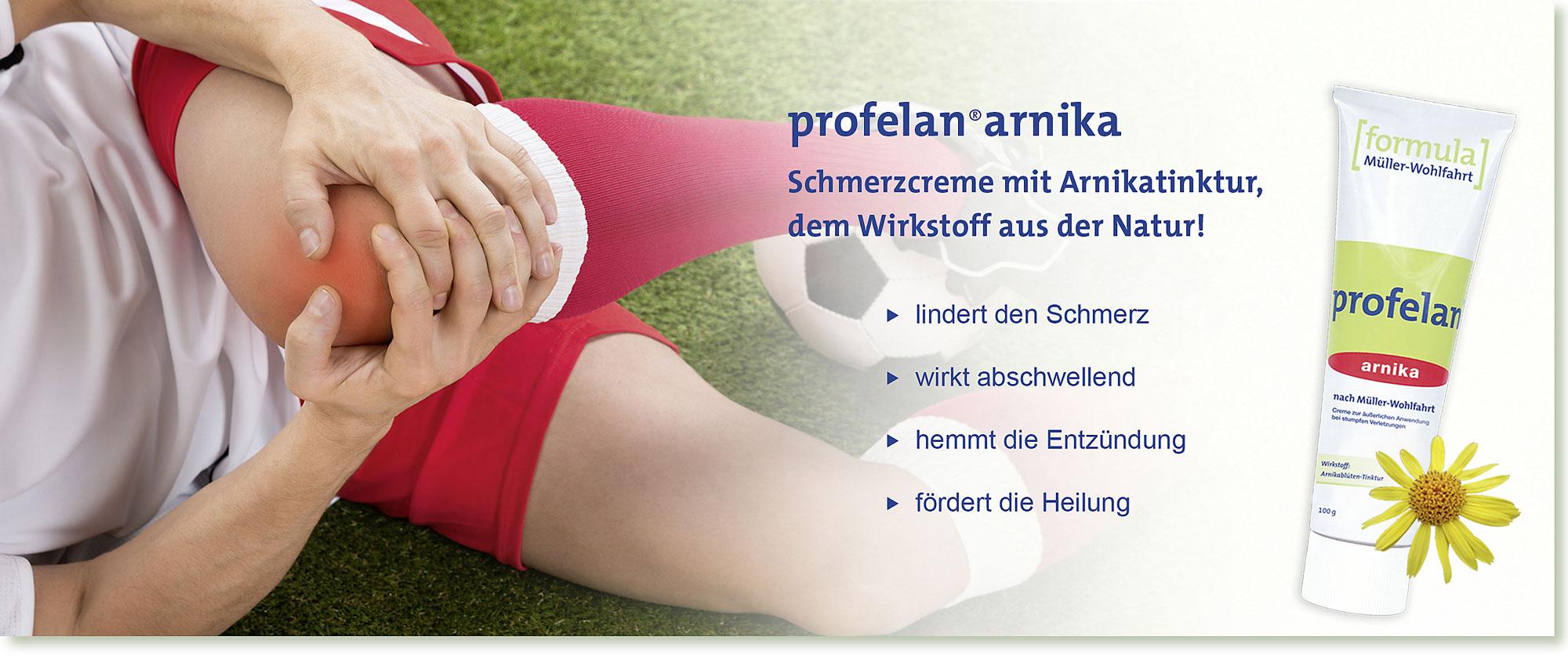 HeadImage | PROFELAN-Arnika Schmerzcreme nach Müller-Wohlfahrt - Fussball