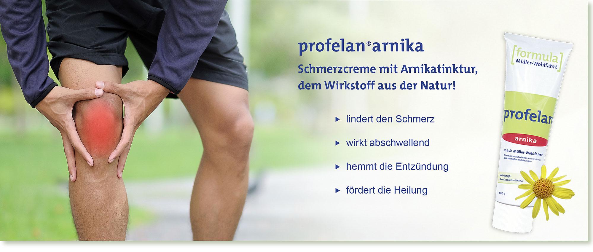 HeadImage | PROFELAN-Arnika Schmerzcreme nach Müller-Wohlfahrt - Jogging