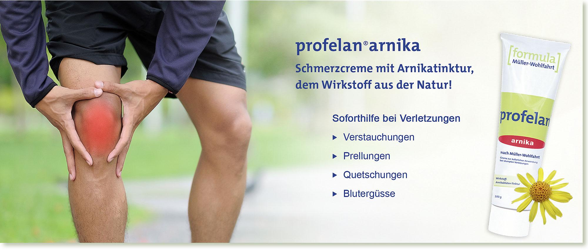 Slider | PROFELAN-Arnika Schmerzcreme nach Müller-Wohlfahrt