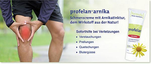Slider mobil | PROFELAN-Arnika Schmerzcreme nach Müller-Wohlfahrt