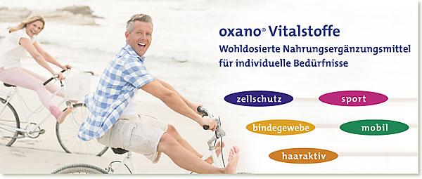 Slider mobil | OXANO Nahrungsergänzungsmittel nach Müller-Wohlfahrt - mobil